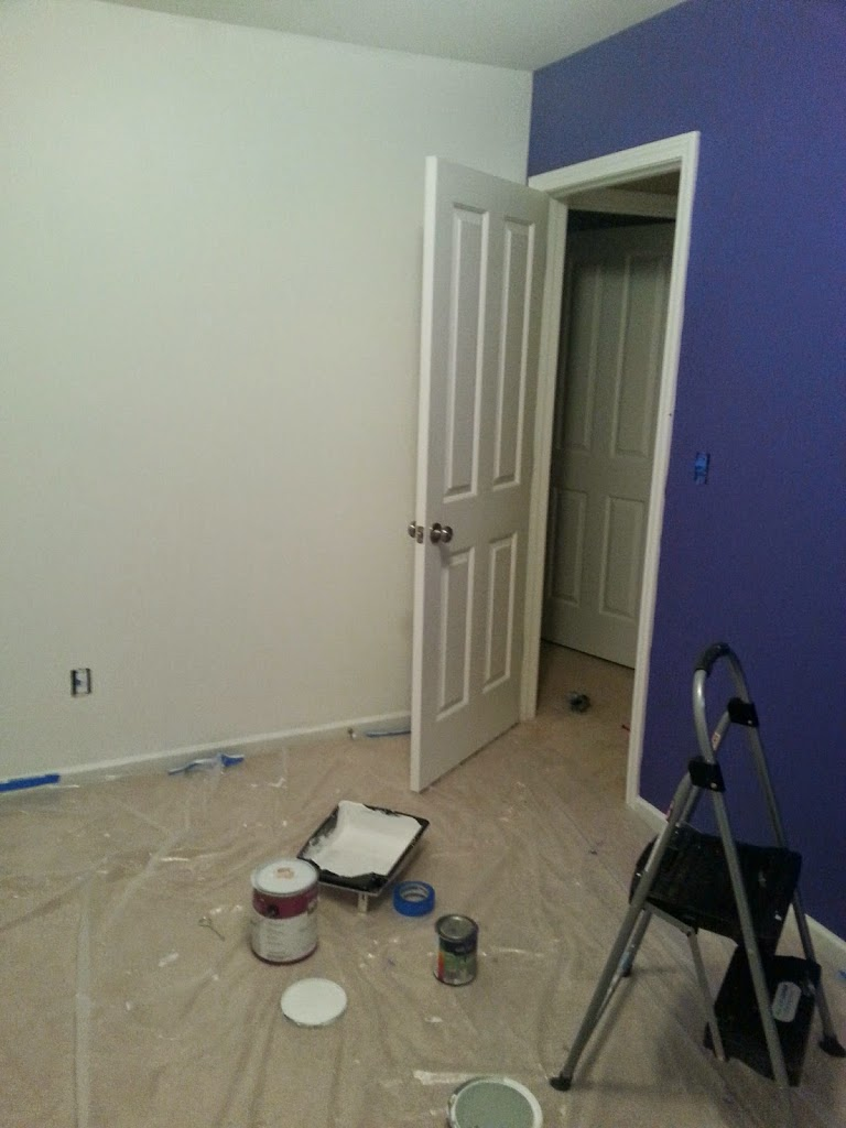 new art studio being painted