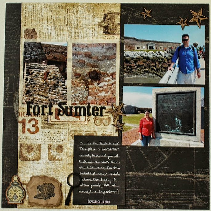 Let's Scrap fort sumter scrapbook layout
