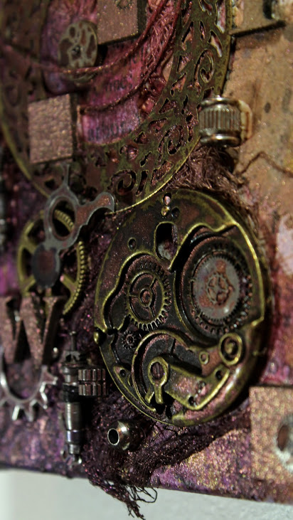 assemblage canvas close up
