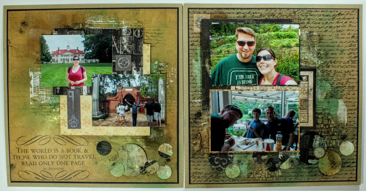 scrapbooking design team 2 page layout by Anjuli Johnson
