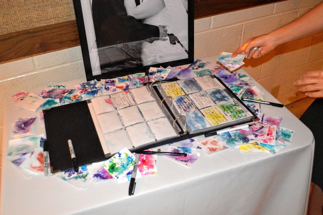 ATC wedding guestbook in action