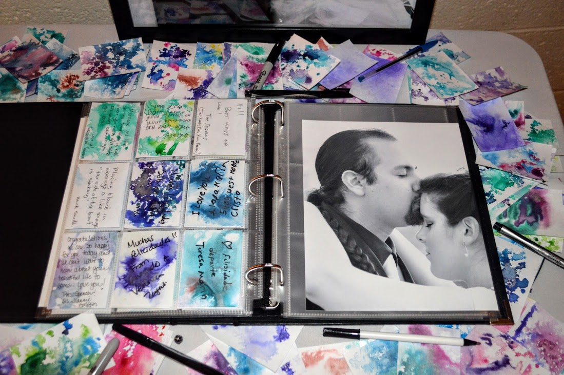 ATC wedding guestbook with pictures
