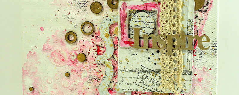 Inspire- overcoming mistakes in mixed media art