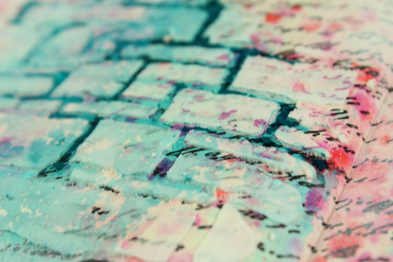Using Stencils and Texture Paste in your Art Journal