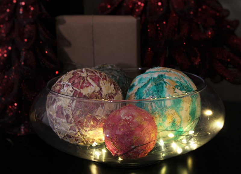 DIY Christmas Orbs Decor