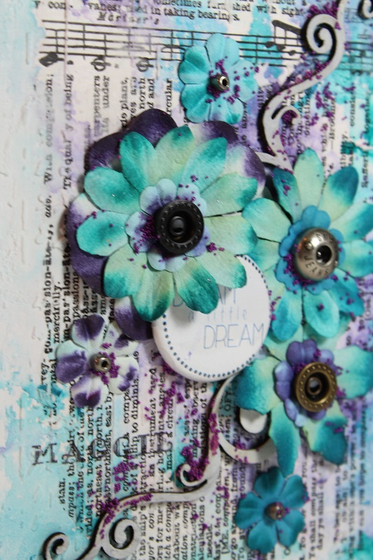 altered covers- paper flowers