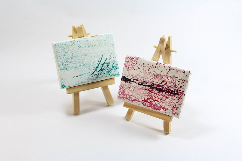 mini encaustic paintings