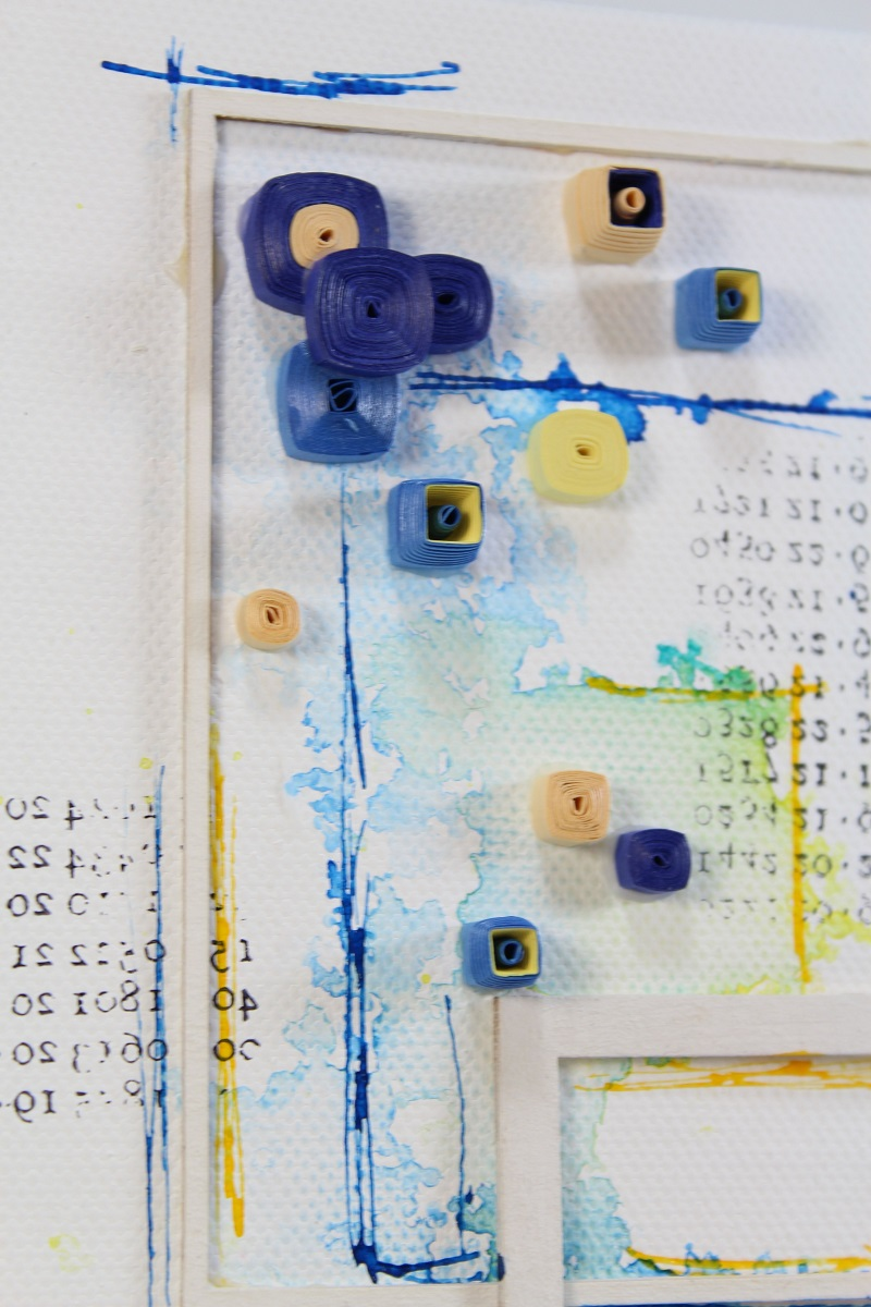 square quilling art with india ink