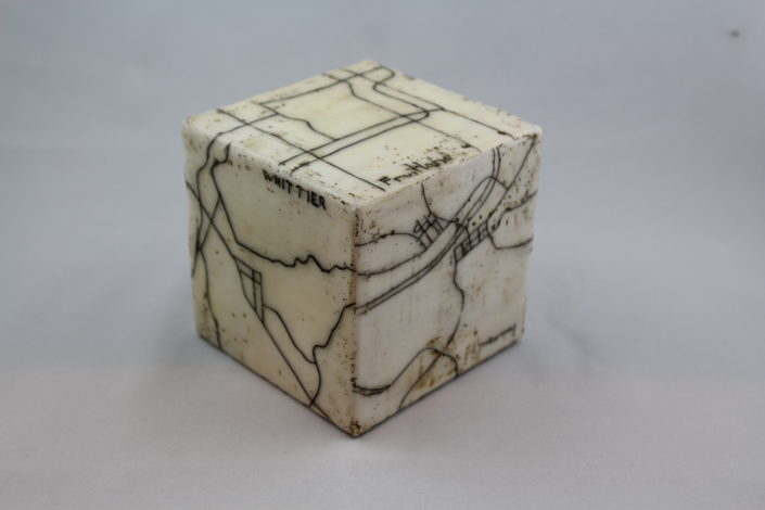 Encaustic Map Cube